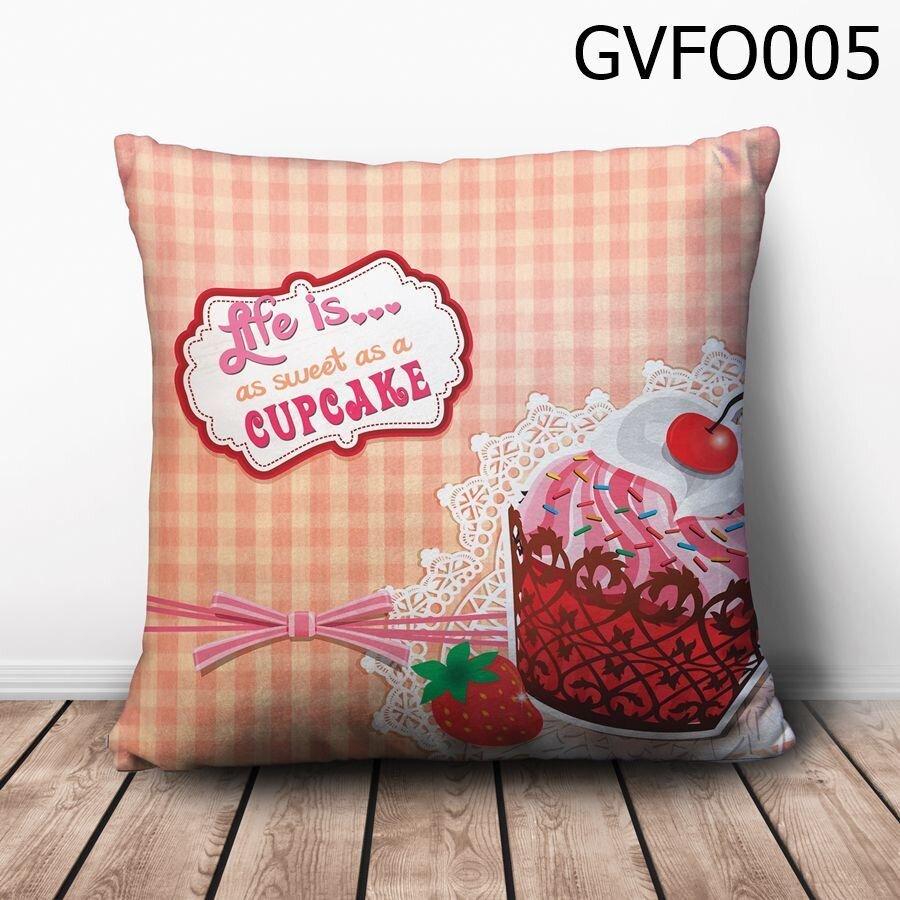 Gối vuông Life is…as sweet as a cupcake - GVFO005