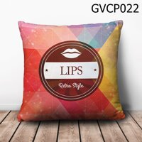 Gối vuông Lips Retro Style - GVCP022