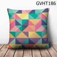Gối vuông tam giác hình học nhiều màu - GVHT186