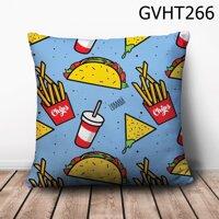 Gối vuông thức ăn nhanh - GVHT266