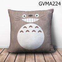 Gối vuông Totoro nâu mặt cười - GVMA224
