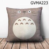 Gối vuông Totoro nâu mặt ngơ - GVMA223