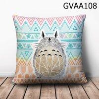 Gối vuông totoro vẽ nền hoạ tiết - GVAA108