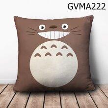 Gối vuông Totoro xám mặt cười - GVMA222