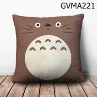 Gối vuông Totoro xám mặt ngơ - GVMA221