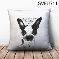 Gối vuông What are you looking at? - GVFU311