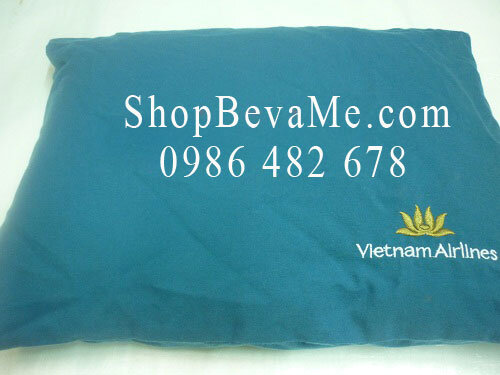 Gối xanh Vietnam Airlines loại to