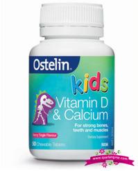 Ostelin Calcium & vitamin D Kids Chewable 50 viên - Bổ sung canxi và vitamin D cho bé