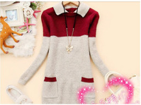 Áo len cổ chui Kelly AL0965 - màu hồng/ tím/ đỏ đô