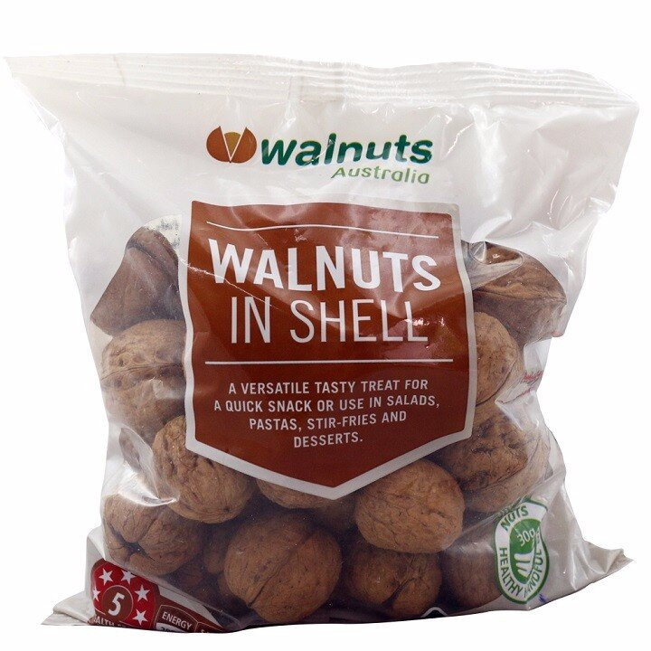 Hạt óc chó nguyên vỏ Walnuts In shell 500g Úc