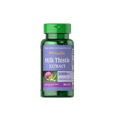Hỗ trợ cho gan Milk Thistle Puritan Pride – 90 viên , 1000 mg