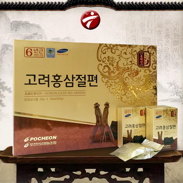 Hồng sâm tẩm mật ong thái lát Pocheon NS287 200g