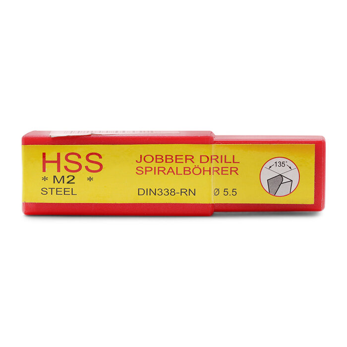 Hộp 10 mũi khoan sắt thép bằng thép gió HSS TTPusa 210-00055-2 5.5mm