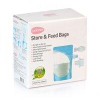 Hộp 50 túi trữ sữa mẹ và thức ăn cho bé ăn trực tiếp bằng thìa Unimom Hàn Quốc UM870329