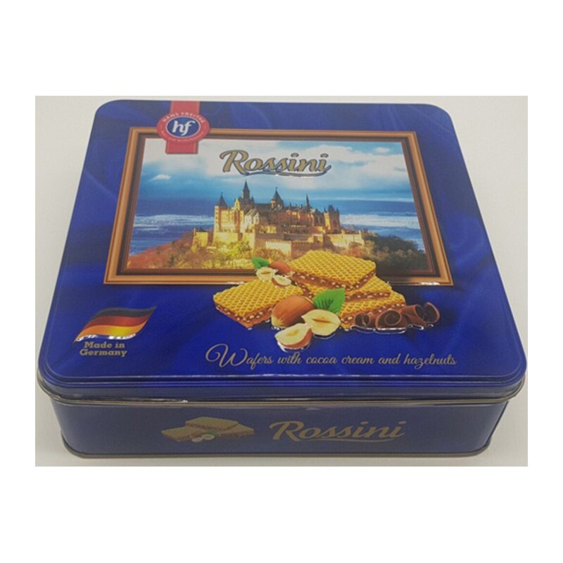 Hộp bánh hf Rossini Wafers with cocoa cream and hazelnuts 374g