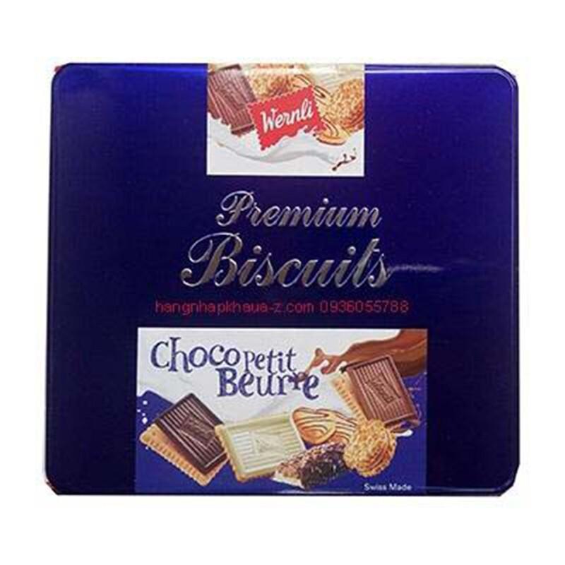 Hộp bánh Premium Biscuits Wernli Choco Petit Beurre 350g
