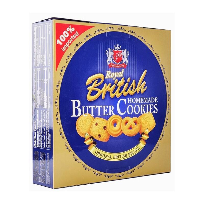 Hộp bánh quy bơ British Royal Butter Cookies homemade 681g
