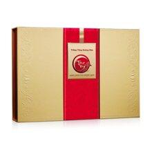 Hộp bánh trung thu Kinh đô Trăng vàng Hoàng Kim Đỏ Vàng 4 bánh + 1 hộp trà
