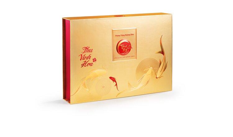 Hộp bánh trung thu Trăng Vàng Hoàng Kim Vinh Hoa (Vàng)
