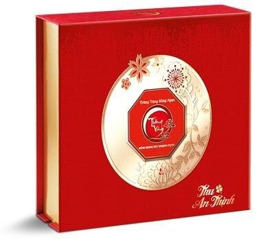 Hộp bánh trung thu Trăng vàng Hồng Ngọc An Thịnh (Đỏ)