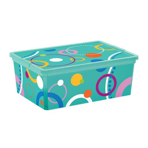 Hộp chứa đồ Kis C-Box Style Bubbles S