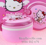 Hộp đựng cơm Hello Kitty - 2 ngăn