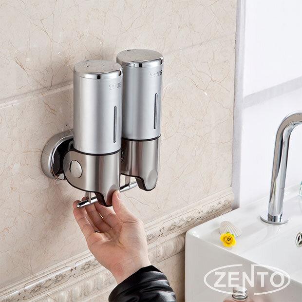 Hộp đựng dầu gội sữa tắm kép Zento ZT406