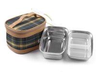 Hộp đựng thực phẩm hình chữ nhật inox 2 SL3 - kèm túi