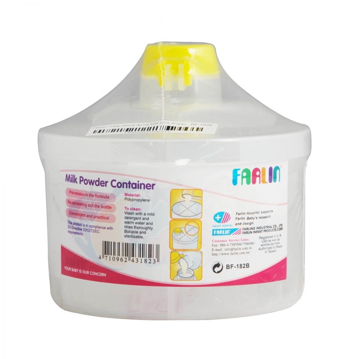Hộp nhựa đựng sữa bột Farlin BF182B (BF-182B)
