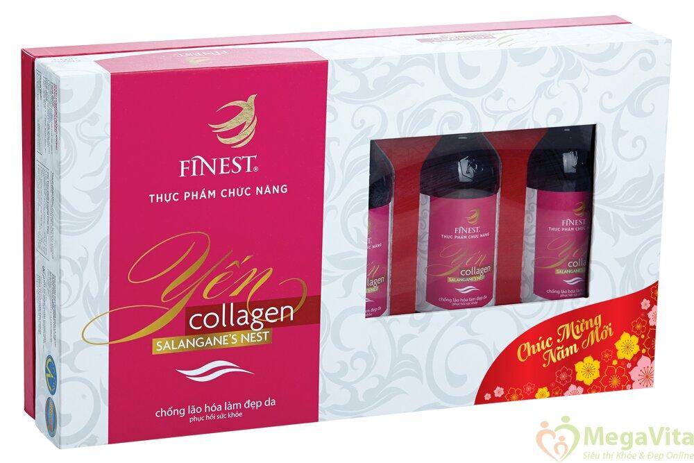 Hộp nước yến chống lão hóa, bảo vệ vẻ đẹp Collagen Finest (5 chai x 100ml)