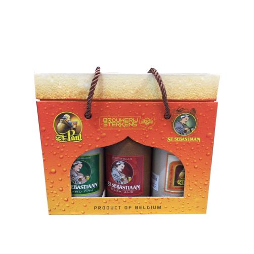 Hộp quà bia sứ Sterkens St Sebastian Giftset 3 chai x 500ml