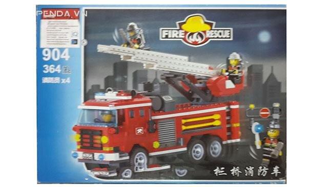 Hộp xếp hình xe cứu hỏa 904