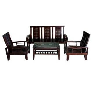 Bộ bàn ghế salon gỗ tự nhiên Hòa Phát T-BSL02