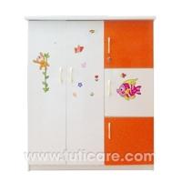 Tủ nhựa Đài Loan 2 cánh, 3 ngăn