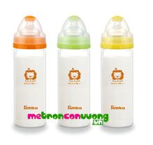 Bình sữa cổ rộng thủy tinh nhẹ cho bé Simba S6908 - 260ml
