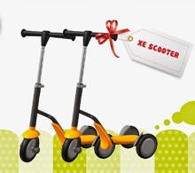 Xe Scooter 2 trong 1