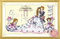 Tranh thêu chữ thập đám cưới hạnh phúc - DLH-YX205