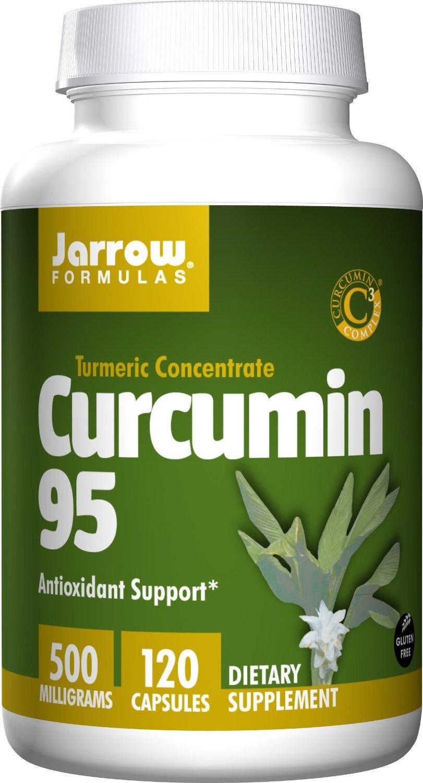Jarrow Curcumin 95 - Viên uống trị đau dạ dày, tá tràng và Hỗ Trợ Điều Trị viêm gan, ung thư, 500mg, 120 viên