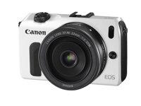 Máy ảnh Mirror Less Canon EOS M (EF-M 18-55 mm F3.5-5.6 IS STM & EF-M 22mm F2 STM, Flash 90EX ) - 18 MP