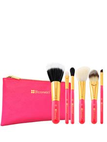 Bộ cọ 6 cây BH Cosmetics Neon Pink Brush Set with Cosmetic Bag