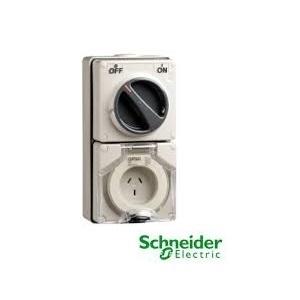 Ổ cắm có công tắc Schneider IP66 S56C532GY
