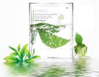 Mặt nạ giấy chiết xuất từ trà xanh Purita Aqua Green Tea Essence Mask