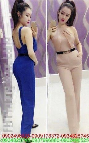 Jumpsuit cổ yếm xếp ly thiết kế xinh duyên dáng zUM25