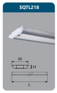 Đèn led gắn trần ốp nổi Duhal SQTL218 1m2, 36W