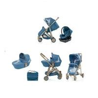 Xe đẩy trẻ em Brevi Crytal 3 trong 1 BRE719 - màu 035/ 233/ 260/ 239