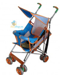 Xe đẩy em bé 126B màu xanh cam
