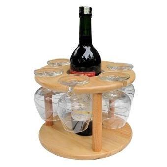 Kệ đựng ly và chai rượu Gỗ Đức Thành 27041K