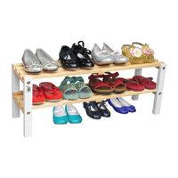 Kệ giày trẻ em 2 tầng chân trắng Gỗ Đức Thành 48372K