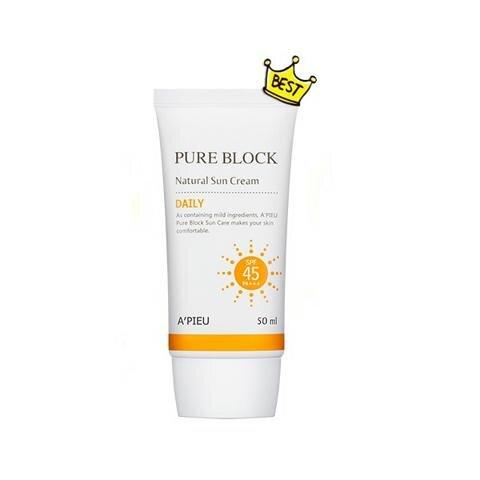 Kem chống nắng Apieu Daily SPF45 Pure Block 50ml