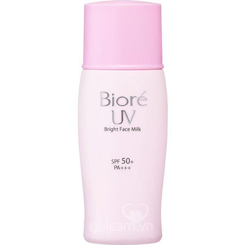 Kem chống nắng Biore Bright Face Milk SPF 50+ 30ml